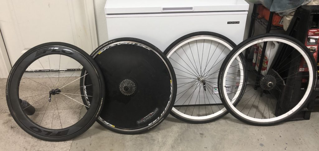 Flo Wheels and White Industry Cycling Wheels