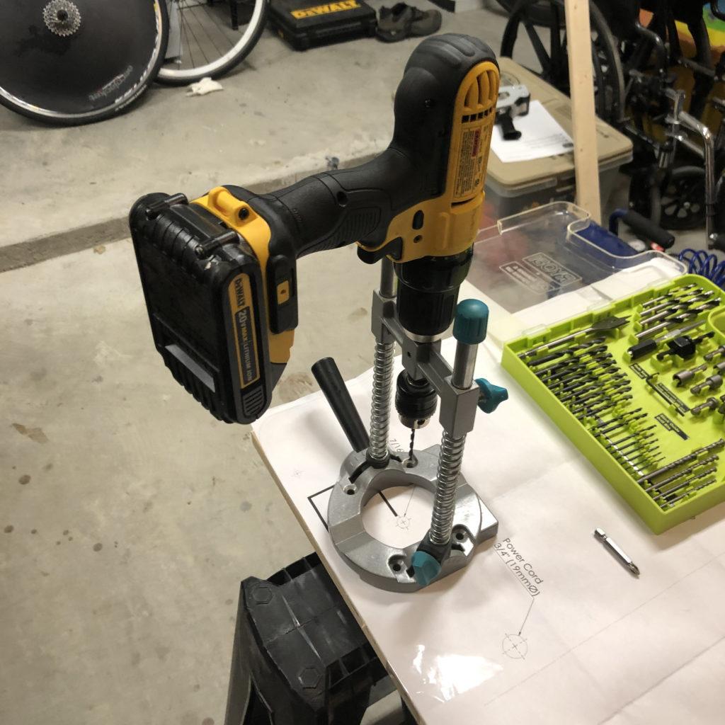 Axxion Rocker Drill at 90 degrees