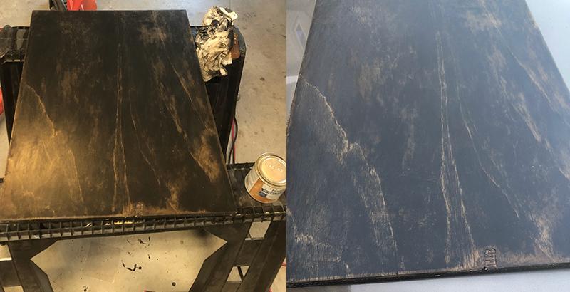 Finish on Axxion Rocker Plate Board