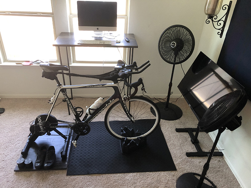 Trainer on Cycleops Wheel holder